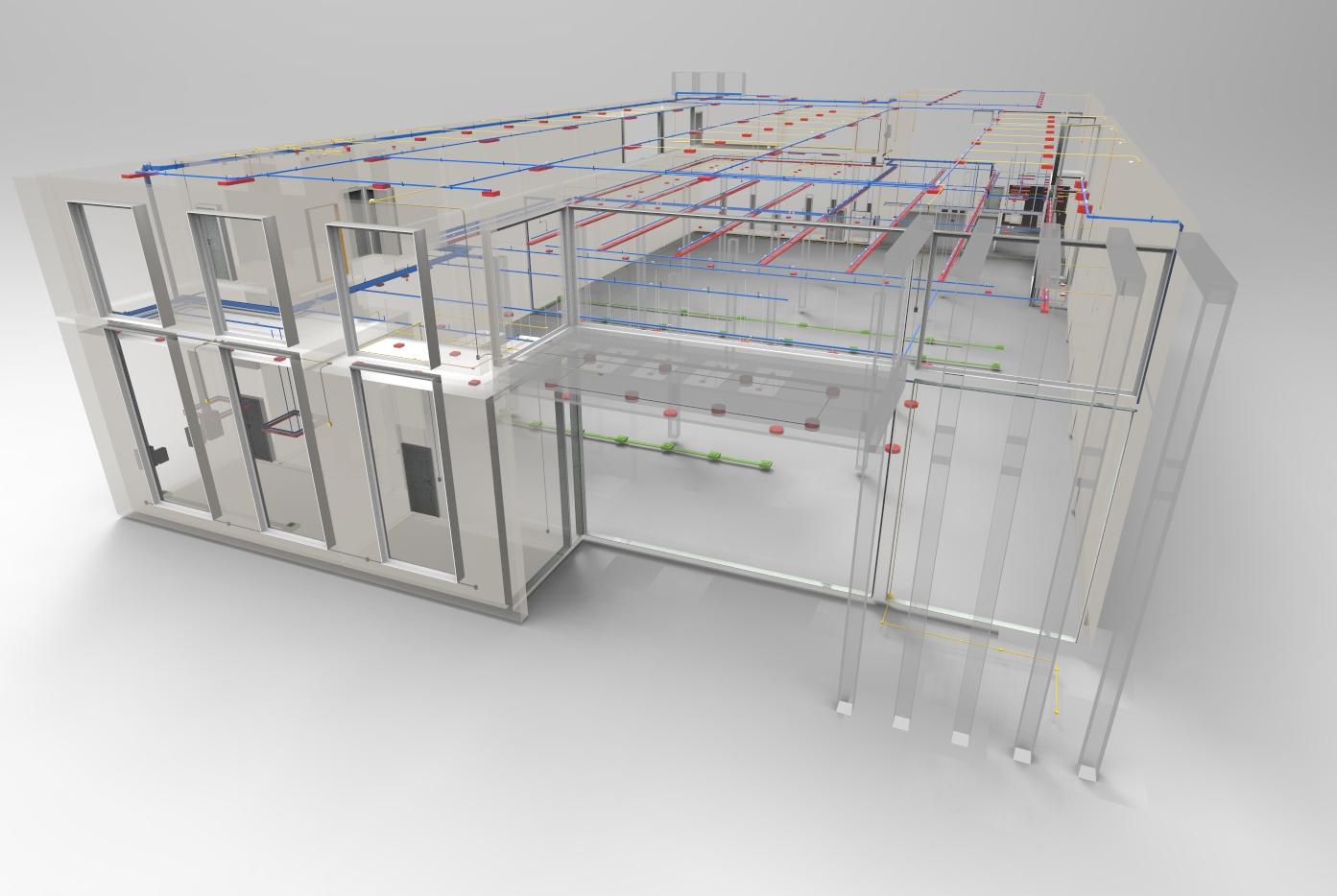 Simulação das instalações elétrica no interior da edificação