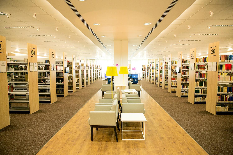 Resultado da iluminação interna da Biblioteca