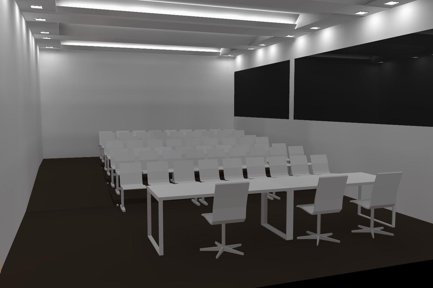 Simulação de iluminação interna Centro Clínico