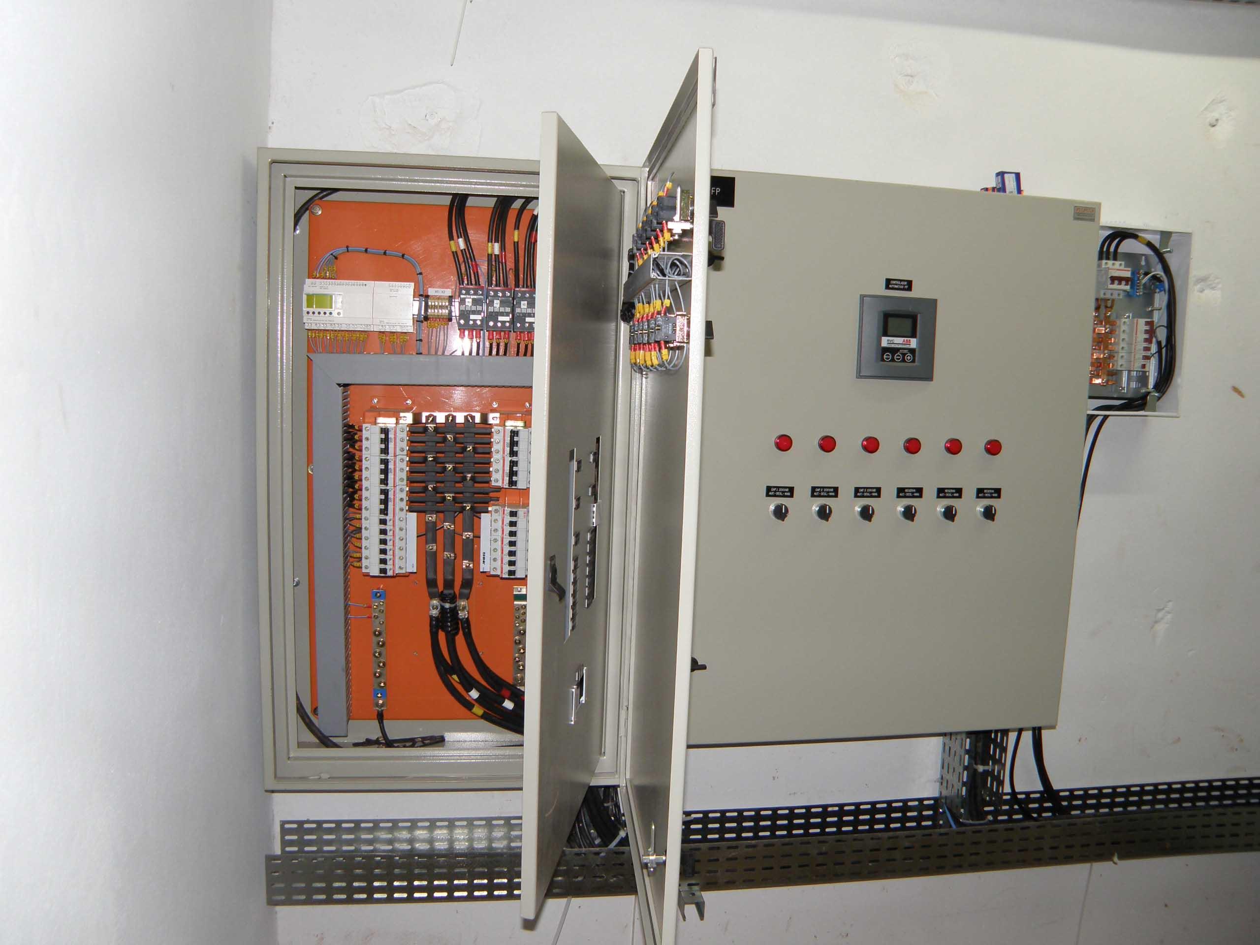 Quadro de controle de iluminação projetado