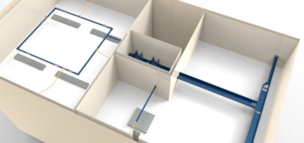 Detalhe das instalações elétricas