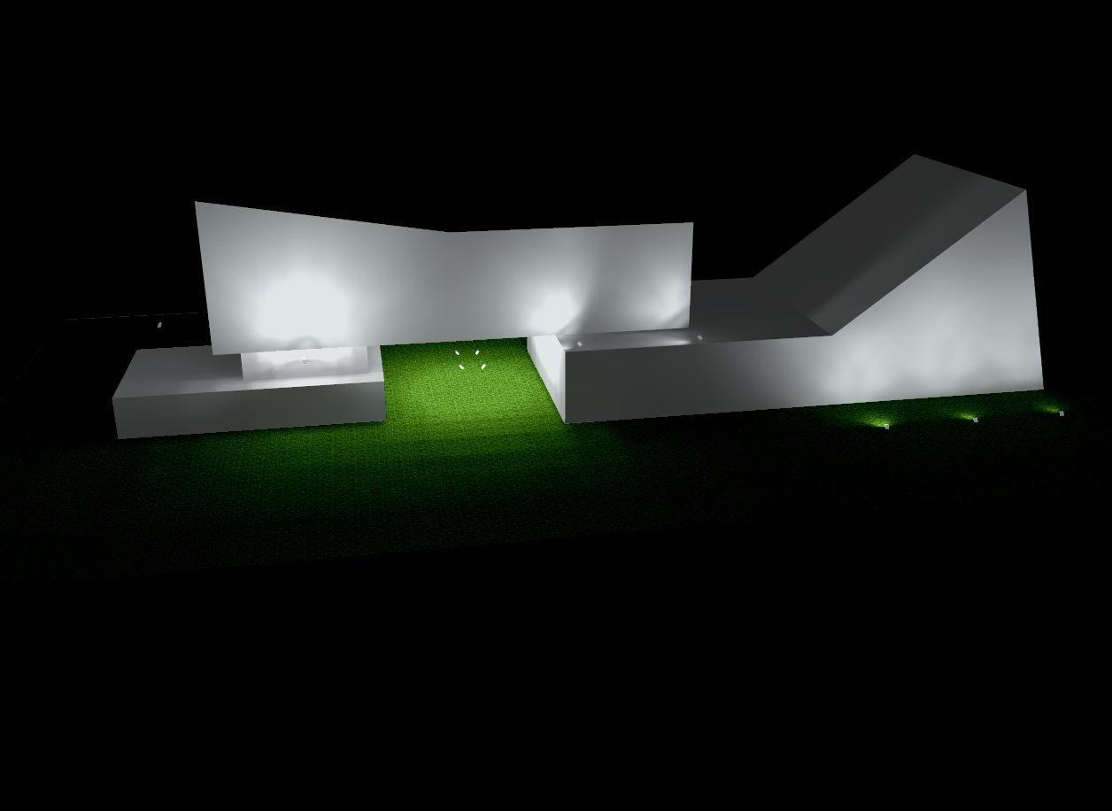Simulação de iluminação externa do Centro Cultural Univates