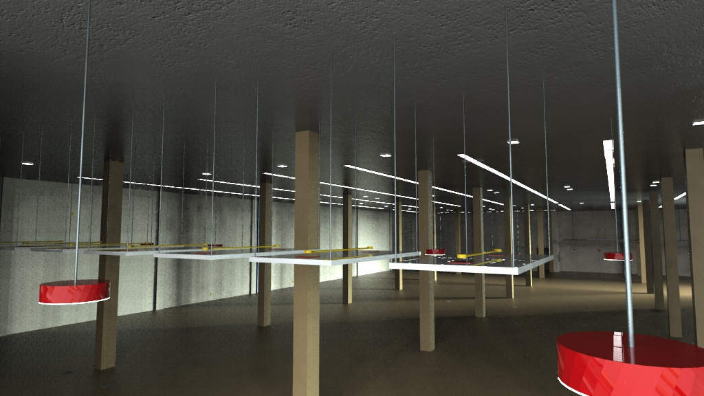 Simulação da iluminação e pontos elétricos no interior da edificação